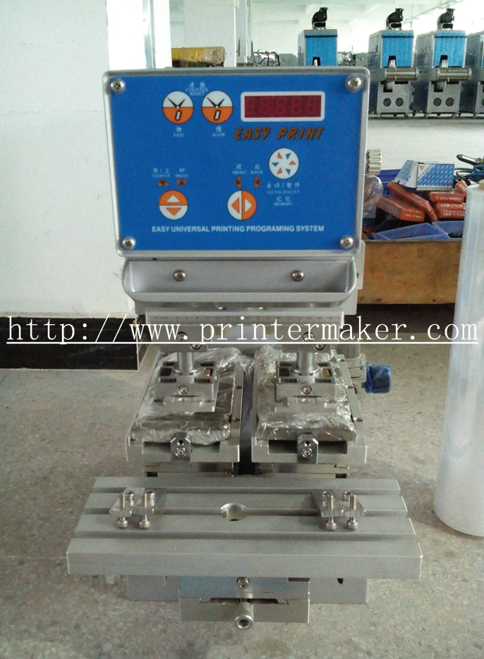 Tabletop Ink Cup Pad Printing Machine with Two Heads