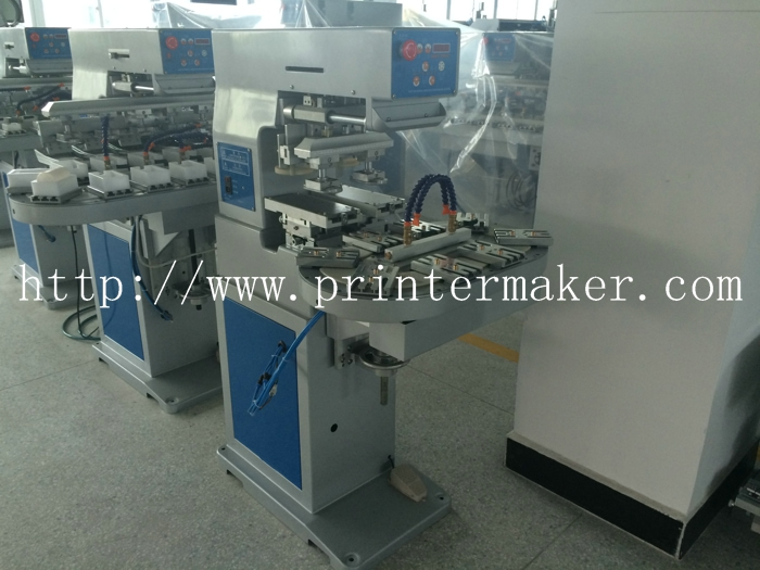 2 Colors Conveyor Belt Ink Cups Pad Printing Machine