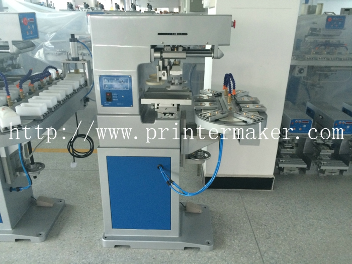 Two Color Ink Cup Pad Printing Machine with Conveyor