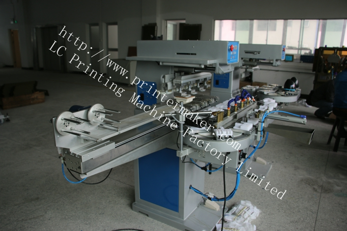 4 Colors Ink Cup Pad Printing Machine with Auto Clean Ruber Pad System