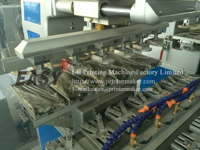 Six Color Ink Cup Pad Printing Machine with Conveyor
