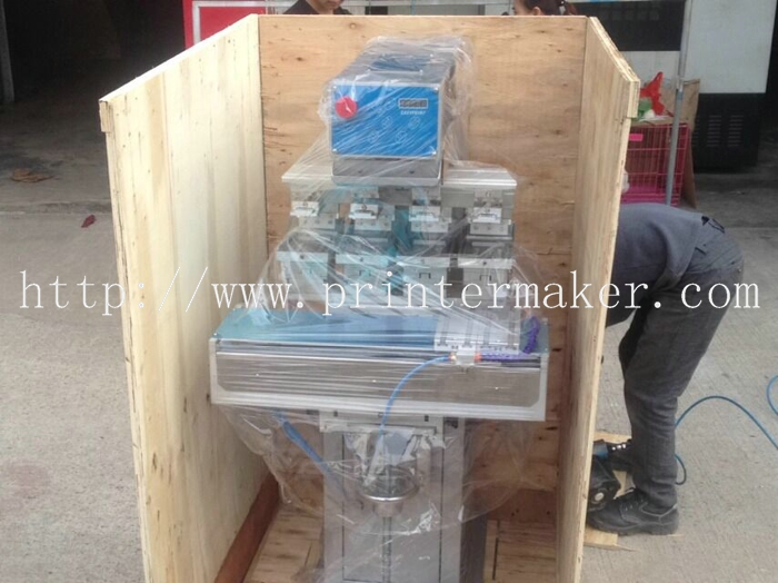 Economical 4 Color Tampo Printing Machine with Shuttle Working Table