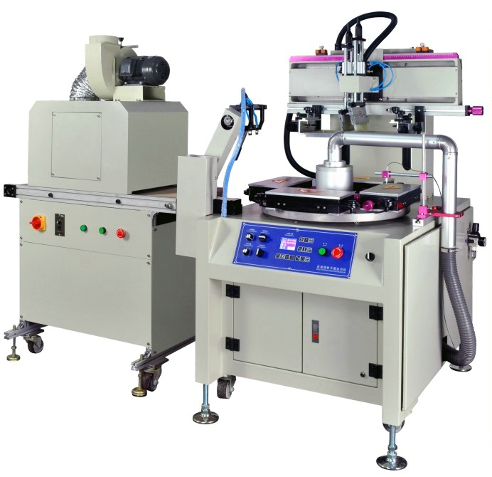 Straight Ruler Hight Speed Screen Printing Machine with Two Workstations
