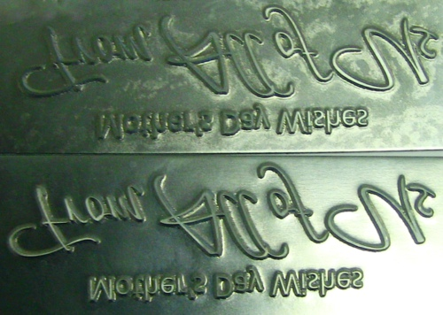 Hot Stamp Zinco Dies