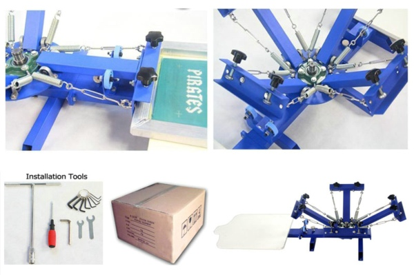 Manual 4 Color Screen Printing Press