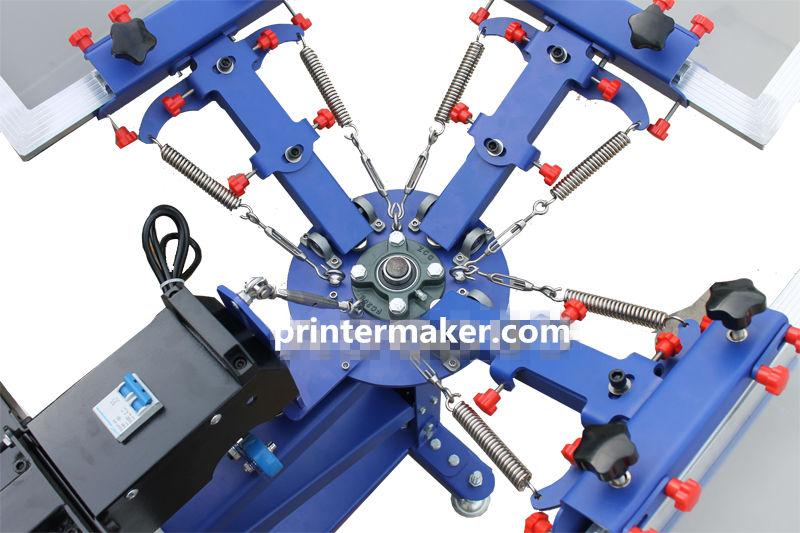 3 Color 1 Station Floor Type Screen Press with Dryer