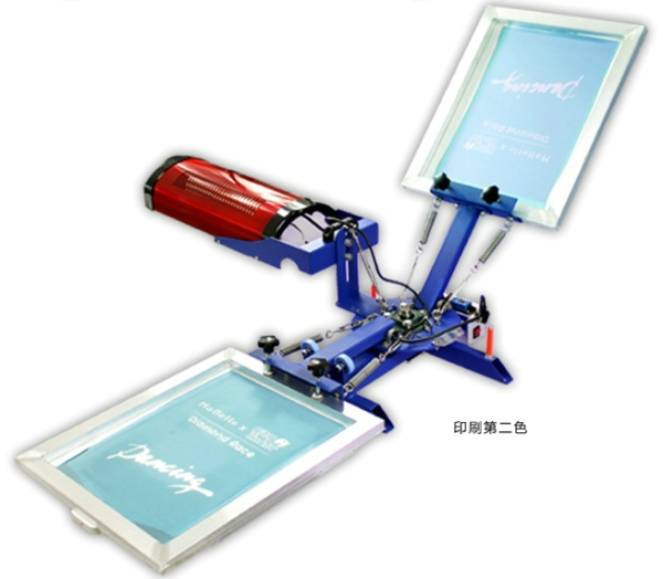 2 Color 1 Station Screen Press With Flash Dryer