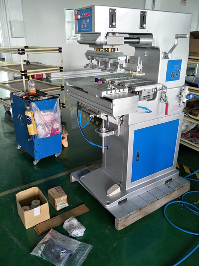 4 Color Ink Cups Pad Printing Machine