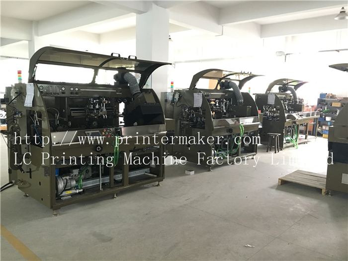 UK Customer ordered 3 sets of new upgraded mechanical driven automatic UV silk screen printing machine