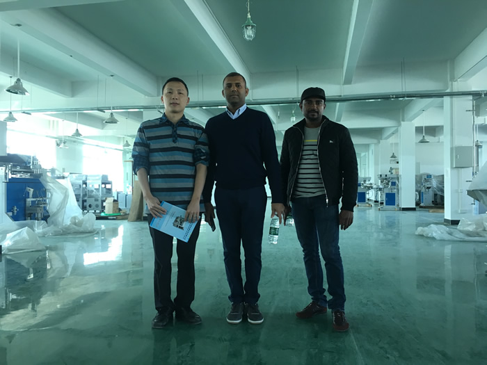 The Agent from Sri Lanka visits Our Factory