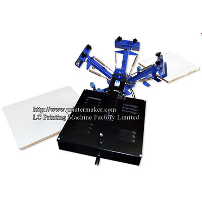 3 Color 2 Station Screen Printing Press With Flash Dryer