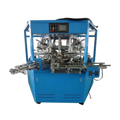 3 Colors LED Rotary Fully Automatic Screen Printing Machine