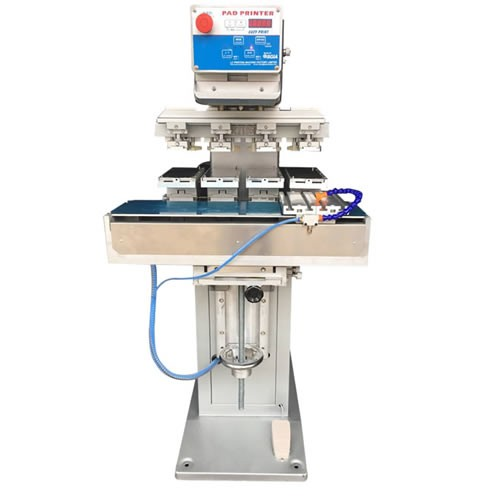 4 Color Pad Printing Machine with 4 Position Pneumatic Shuttle
