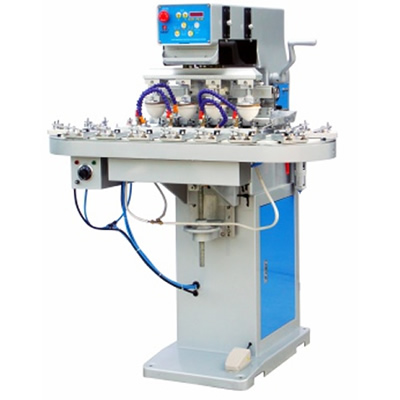 4-Color Pad Printing Machine with Conveyer