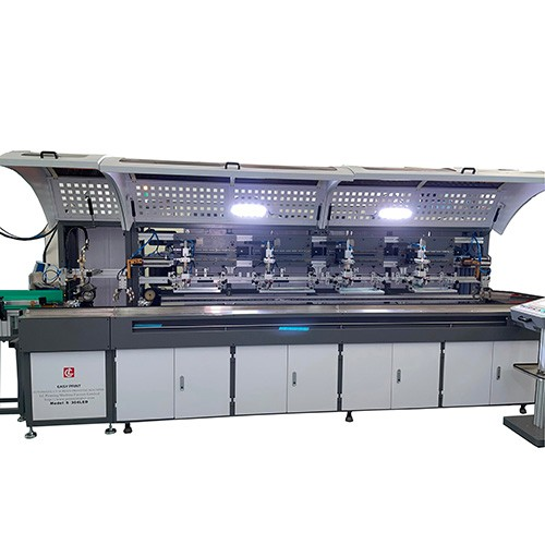 4 Colors Glass Bottles Automatic Screen Printing Machine with LED UV Curing System