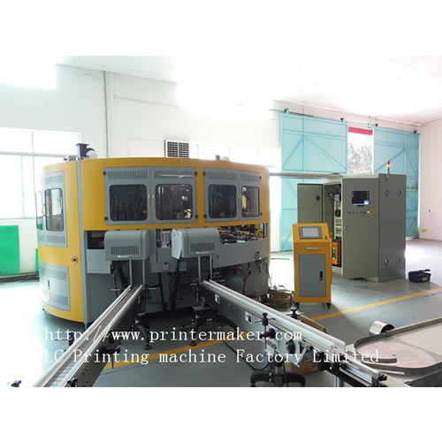 6 Color Automatic UV Glass Bottle Screen Printing Machine