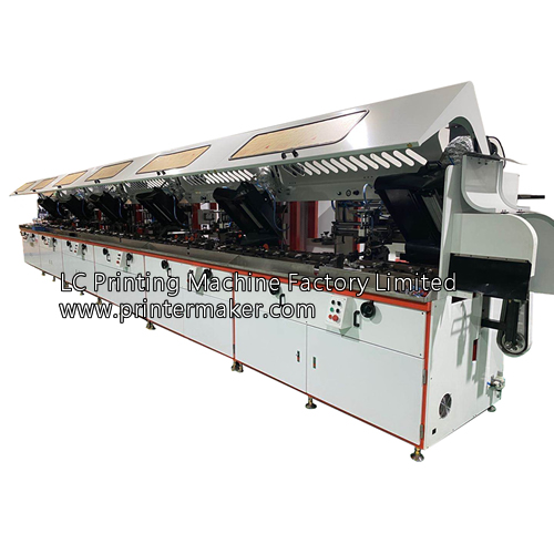 6 Colors Automatic UV Silk Screen Printing Machine