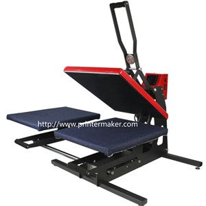 Auto Open Heat Press Machine with 2 working station