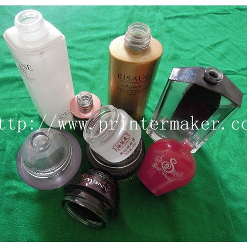 Automatic Glass Bottle Screen Printing Machine For Cosmetic Industry