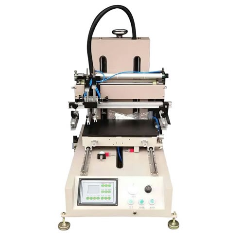 Desktop Flat Screen Printer with Sliding Vacuum Table