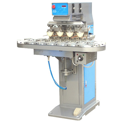 Economical 4 Color Pad Printing Machine with Conveyer