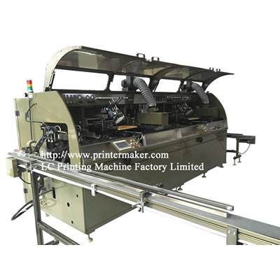 Enlarge 2 Colors Automatic UV Screen Printing Machine on Glass Bottles