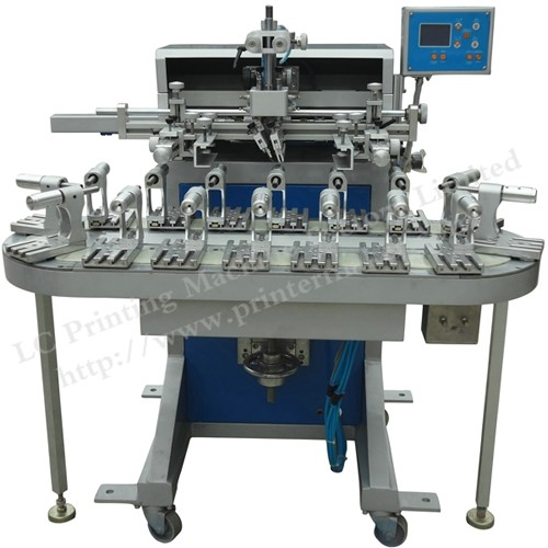 Flat And Round Conveyor Belt Screen Printing Machine with 16 Stations