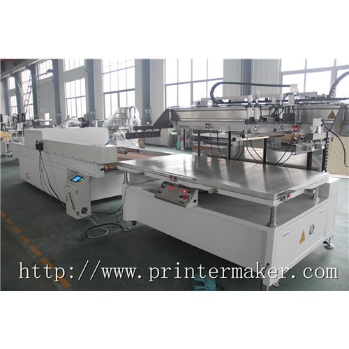 Flat Bed Screen Printing Machine with Auto Unload System and IR Tunnel