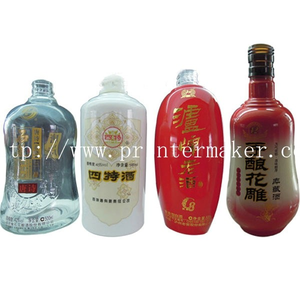 Full Servo 3 Color Automatic Glass Bottle Screen Printing Machine