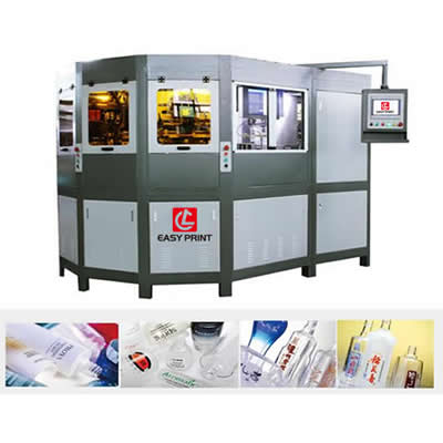 Full Servo 3 Color Automatic Screen Printing machine for Glass Bottle