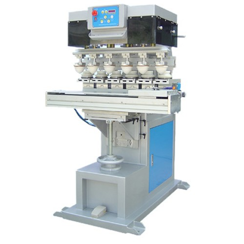 Ink Cup Six Colour Pad Printing Machine