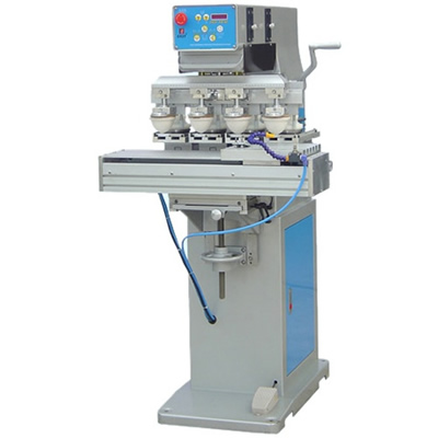 Large Size 4 Color Ink Cup Pad Printing Machine