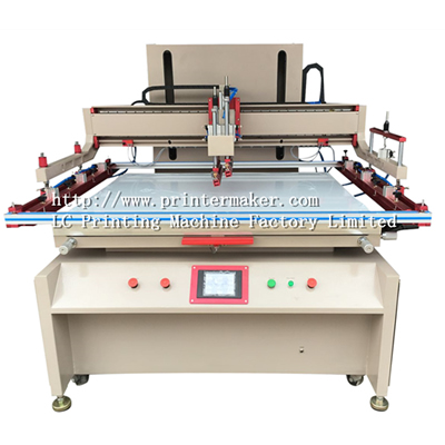 Large Size Flat Bed Silk Screen Printing Machine with PLC control and Servo Motor