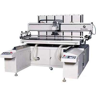 Large Size Flatbed Screen Printing Machine with Sliding Working Table