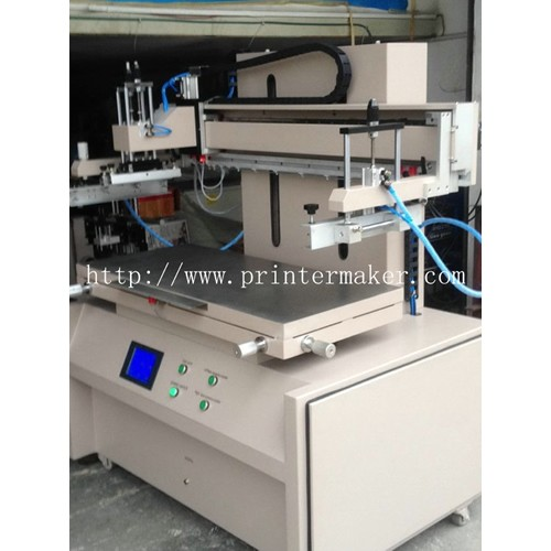 Plane Screen Printer with Servo Motor and PLC Control