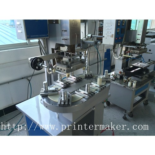 Pneumatic Flat Hot Stamper with Conveyer