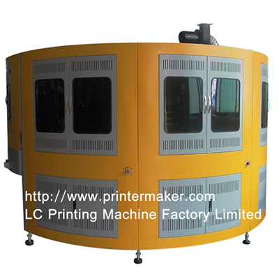 Rotary 5 Color Automatic Glass Bottle Screen Printer
