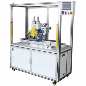 Security Plastic Seal Servo Motor Two Station Hot Stamping Machine