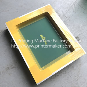 Silkscreen frame for bottles, cups