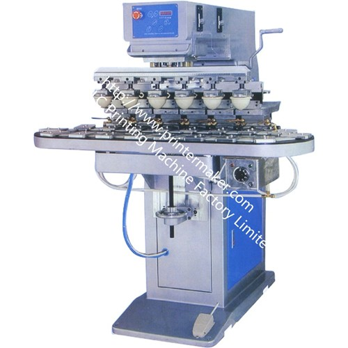Six Colors Pad Printing Machine with Conveyor