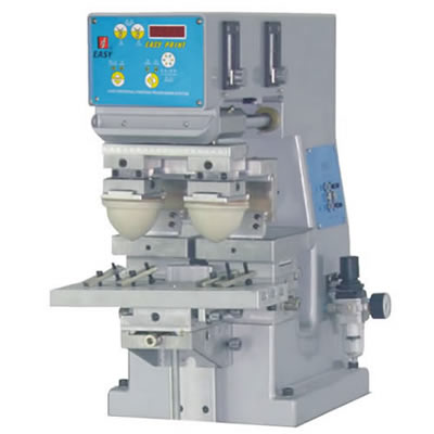 Tabletop 1 Color Pad Printing Machine with Double Head