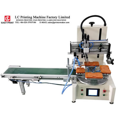 Tabletop Screen Printing Machine with Carousel and Conveyor