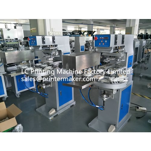 Two Color Ink Cup Pad Printing Machine for Cap's Top