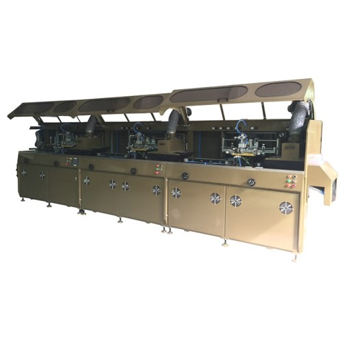 Upgraded Automatic 3 Colors UV Silk Screen Printer